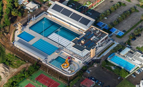 Photo aérienne piscine Lamentin